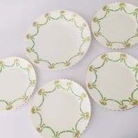 RS Prussia - Daisy Swag Plates  x  5